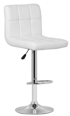 1 Milan White Faux Leather Padded Seat Bar Stool